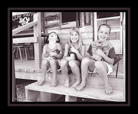 """Kids at the Cow Patty Diner - Perrin, Texas USA"" © Brad Michael Moore 1996"