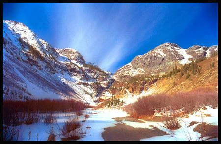 """Sipping Coffee at Sunrise near Ouray, Colorado"""