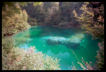 """ V-Rock - Plitvicka Jezera Park lake in Old Yugoslavia, present day Croatia"""