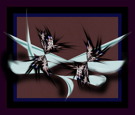 """Black Angel Digifish and Waterlilies"" © 2010 Brad Michael Moore"